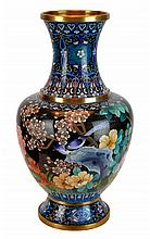 Chinese Brass Cloisonne Vase