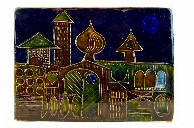 Old Judaic Art Pottery Tile