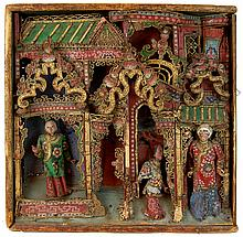 Antique Chinese Puppet Theatre Stage #2
