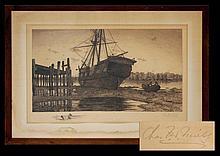 Charles F.W. Mielatz (1864 - 1919) Etching, Ship