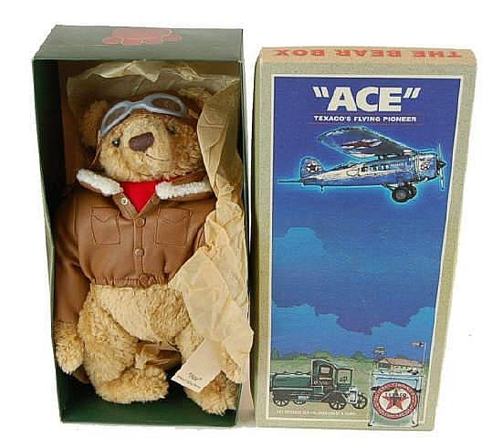 NIB Texaco Stuffed Ace Pilot Bear