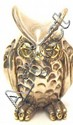 Sterling Silver Owl marked 925