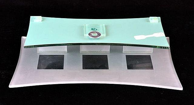 Frosted glass wall shelf, 6.75