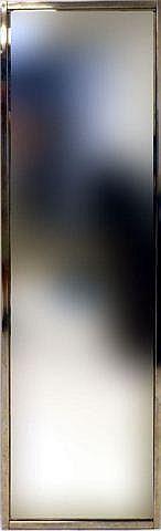 Double sided tall mirror, chrome frame. 22