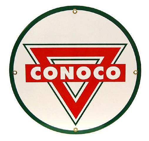 Vintage Conoco Tin Sign