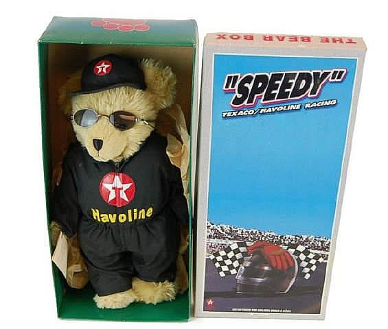 NIB Texaco Stuffed Speedy Bear