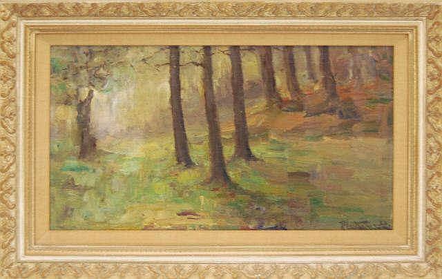 Signed Richard Leutenez (1871-1963) Oil Painting