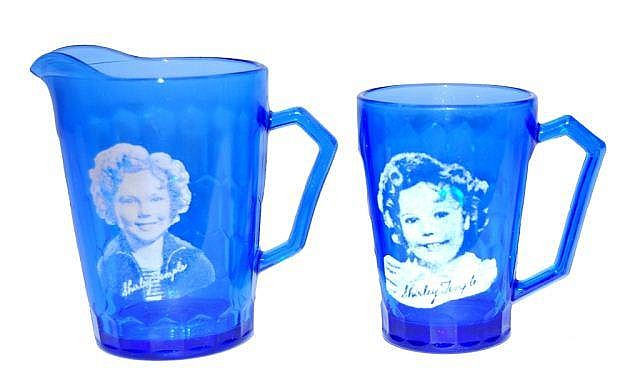 Shirley Temple Creamer and Cup