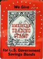 Double sided enameled sign, American Trading Stamp