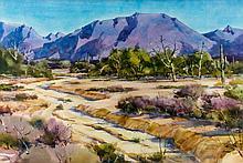 "Tom Hill (1925-) ""Arizona"" Watercolor Painting"