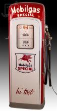 Mobilgas Special Gasoline Double Sided Gas Pump