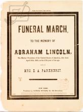1865 Abraham Lincoln Funeral March Sheet Music