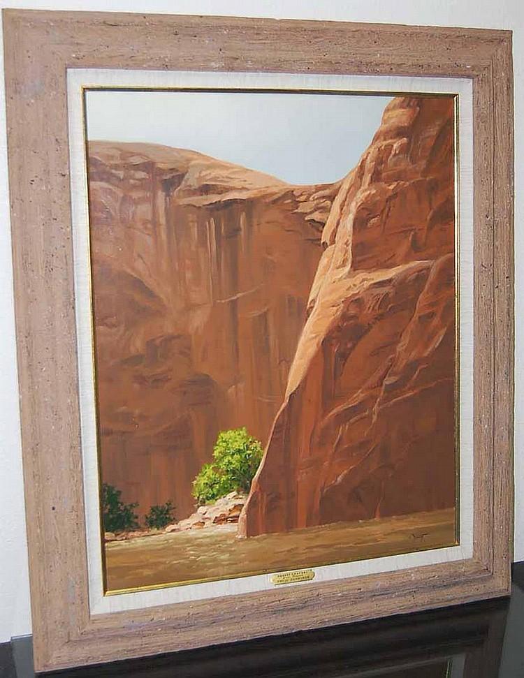David Schwindt (b. 1947) Desert Drapery, Lake Powell - Oil on Canvas