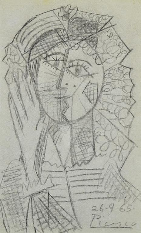 Sold Price: Pablo Picasso (1881-1973) Original Pencil ...
