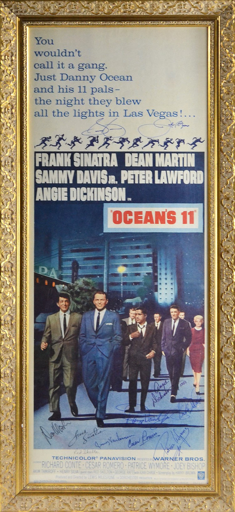 "Cast Autographed ""Ocean's 11"" Movie Poster/Insert c. 1960"