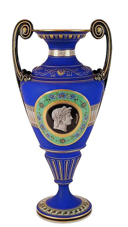 Greek Revival Old Paris Porcelain Urn Vase