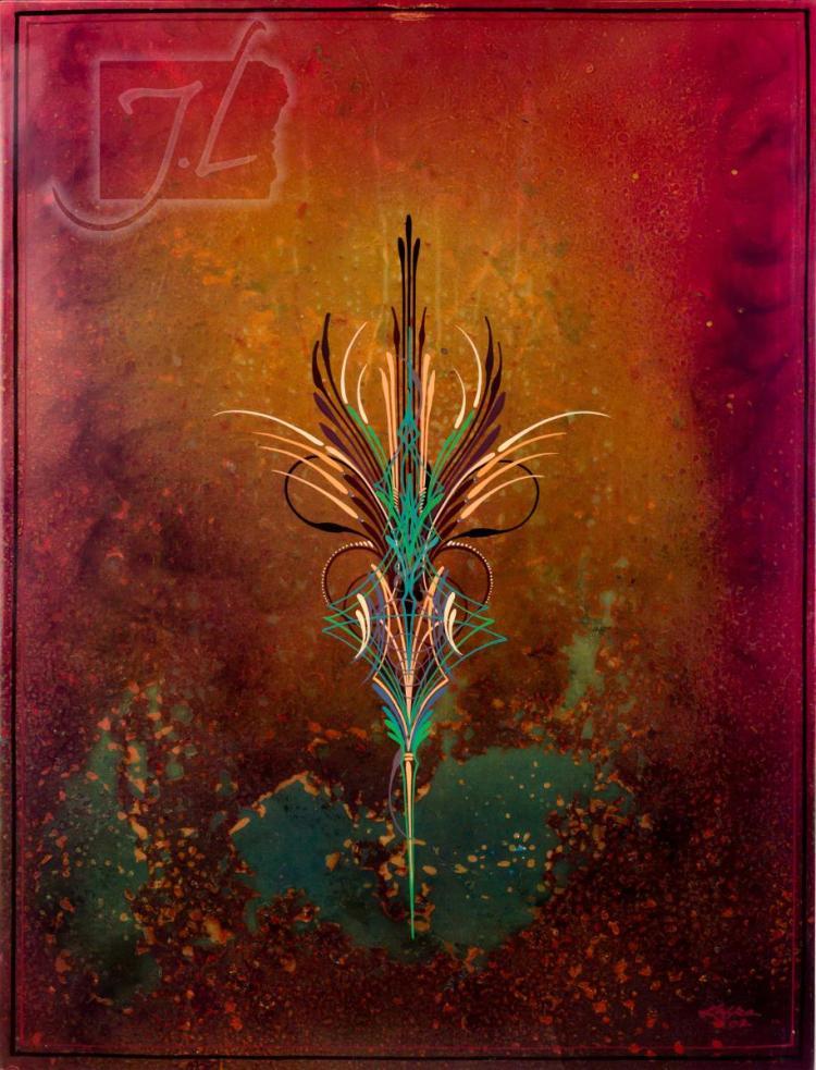 Pinstripe Artist Steve Kafka Painted Sheet Metal