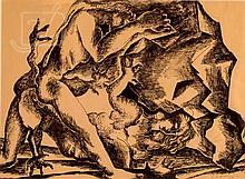 Ossip Zadkine (1890-1967) Hercules Hydra Drawing