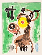 Joan Miro (1893-1983) Green Lithograph