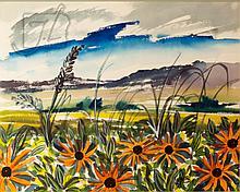 Harold Laynor (1922-1991) Flower Field