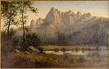 Hiram Bloomer (1845-1911) Mountain Landscape