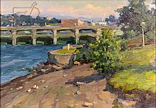 Ovanes Berberian (1951-) Landscape