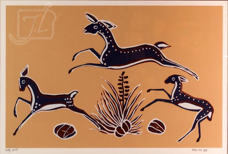 "Narciso Abeyta (1918-1998) ""Leaping Deer"""