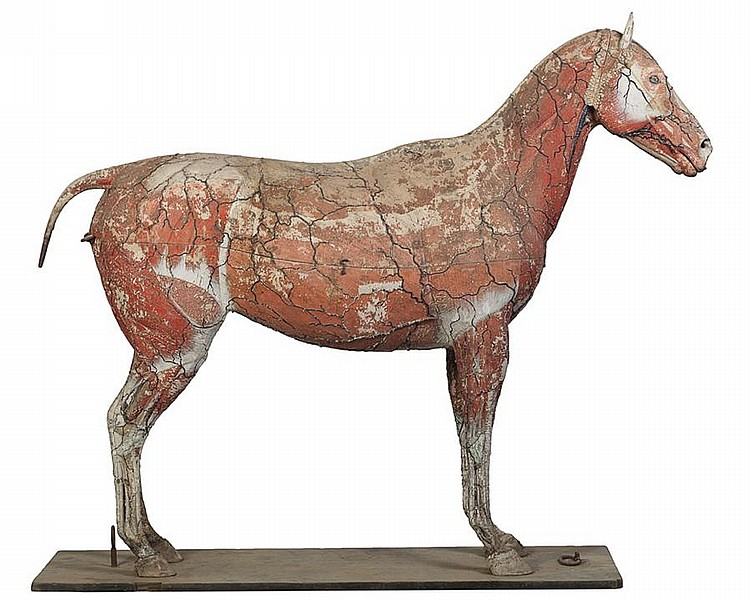 Dr. Louis Auzoux, French (1797-1880), Papier mache life sized anatomical model of a quarter horse, Height: 65 inches; Length: 76 inc...