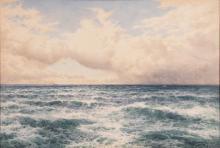 Arthur Suker, United Kingdom (1857-1902), The Open Sea, 1930, watercolor on paper, 21 1/2 x 31 1/2 inches (sight)