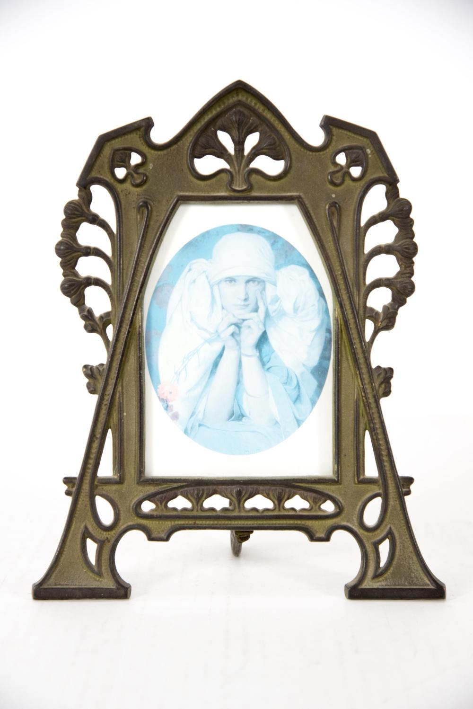 Art Nouveau Bronze Picture Frame. 10 x 8 inches