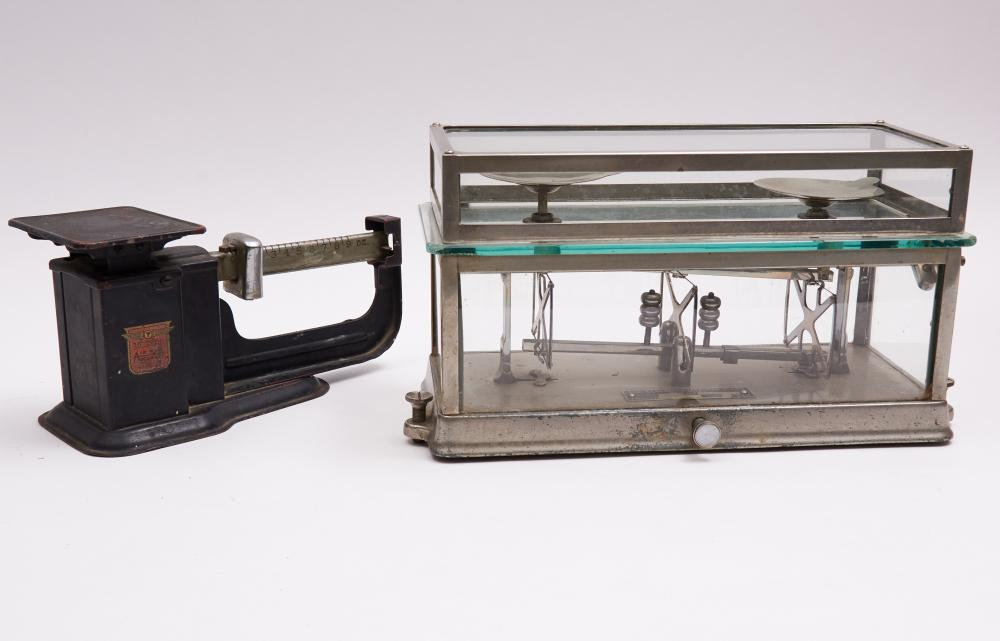 Antique Torsion Balance Co. Scale, together with Triner Scale (Two Apothecary Scales)