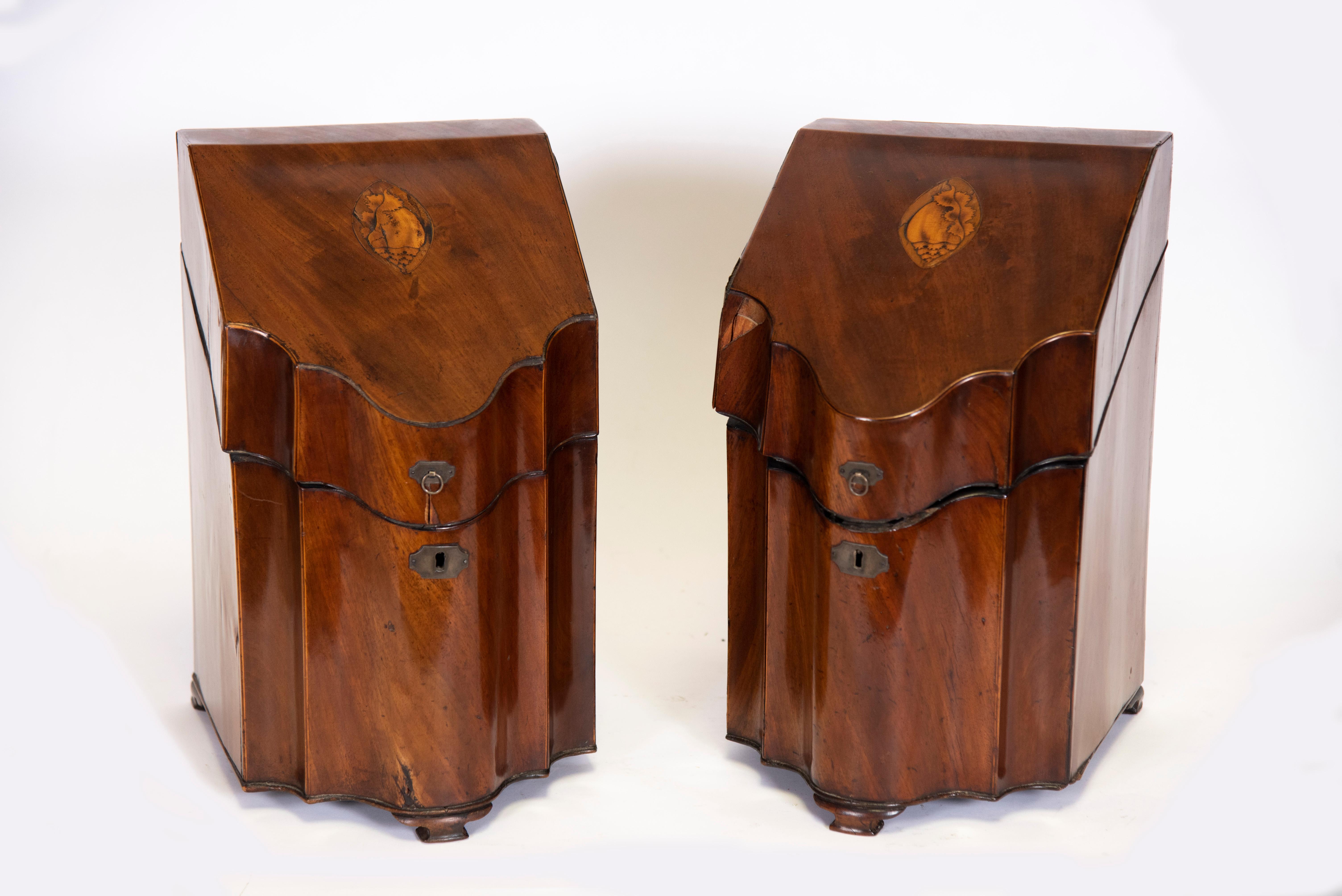 Pair of 19th Century Georgian Knife Boxes