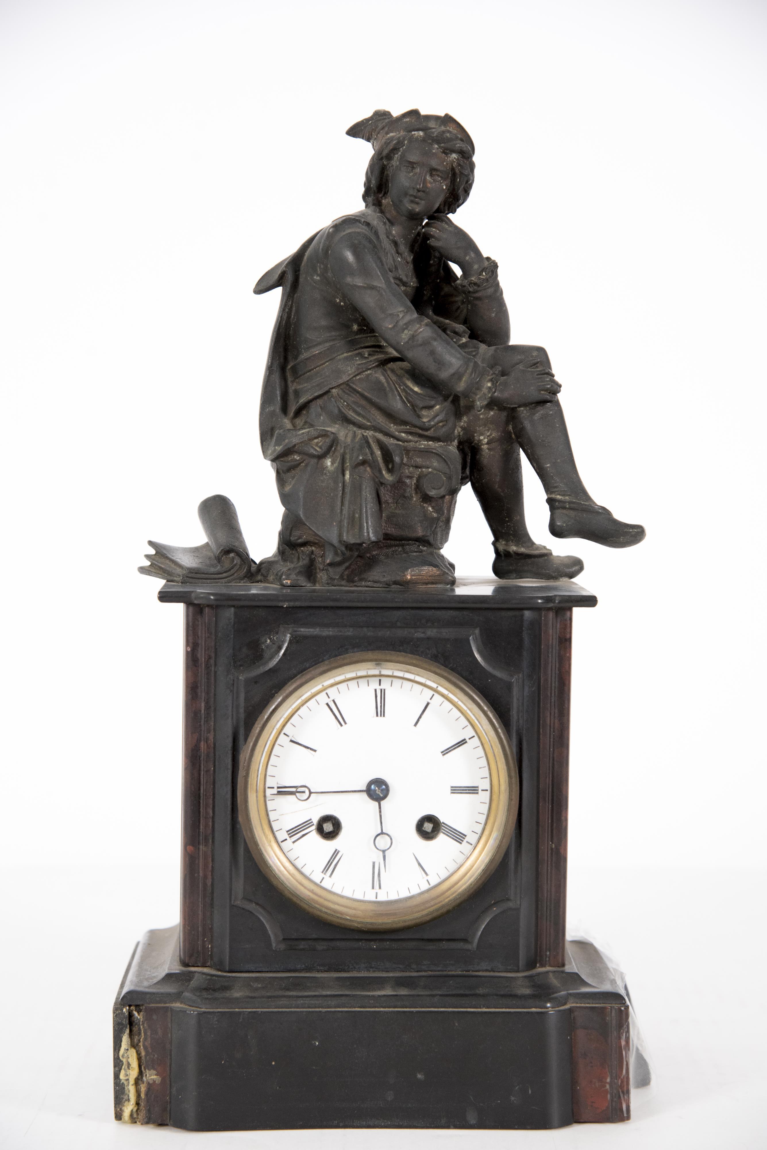 A 19th Century Figural Mantel Clock