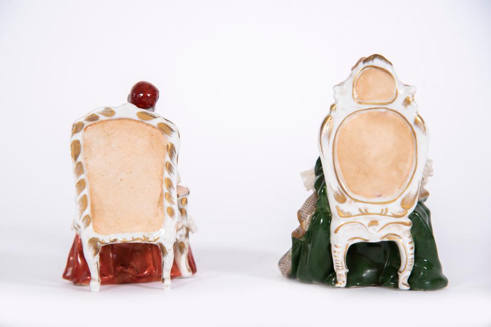 2 Capodimonte Porcelain Figurines