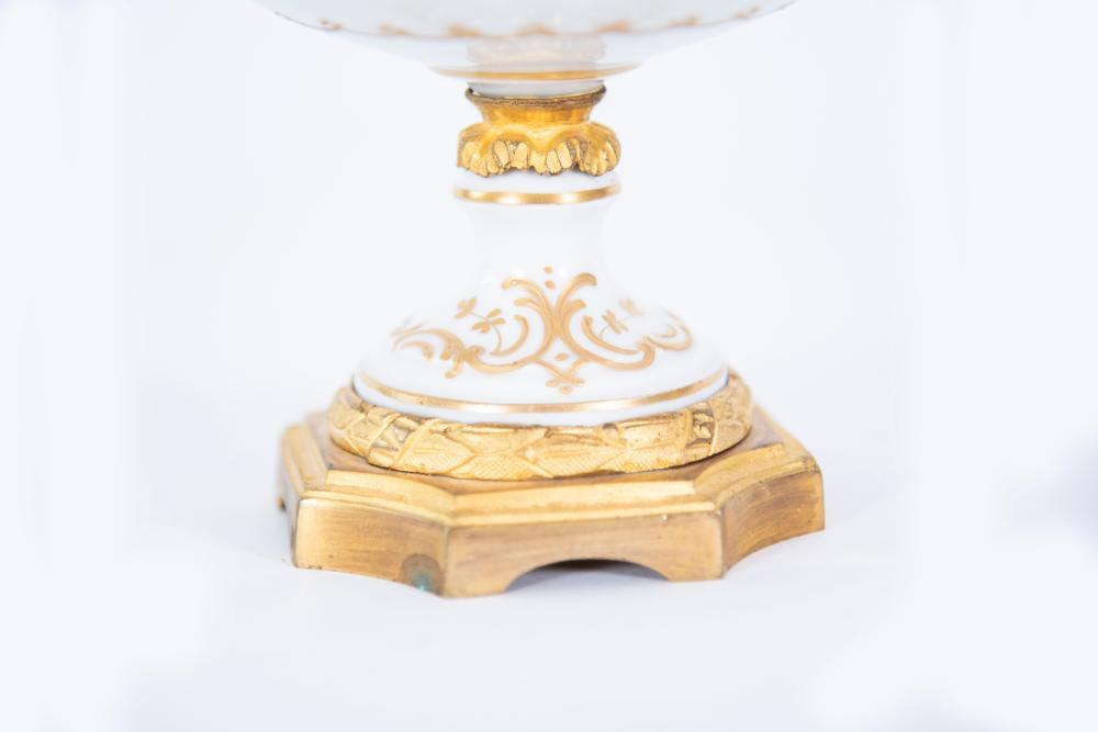 Sevres Porcelain Gilt Metal Mounted Urn