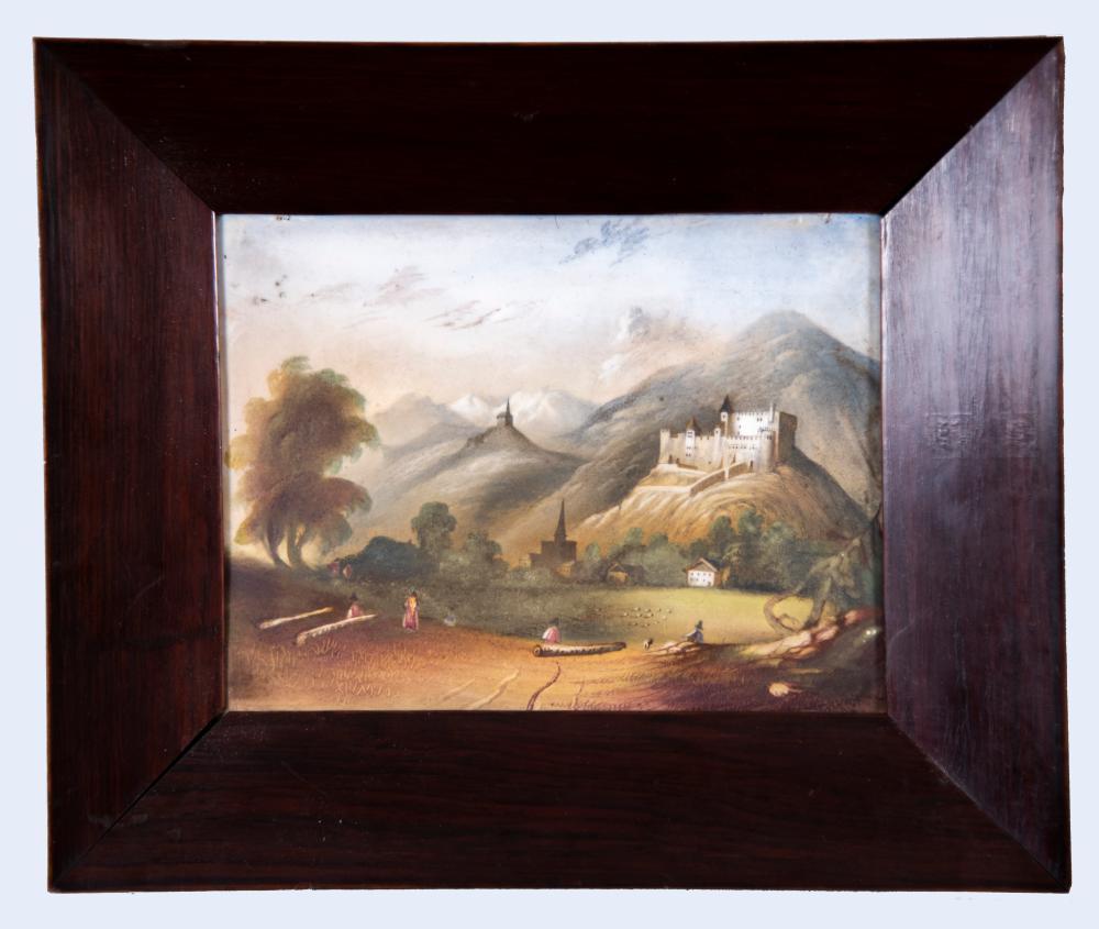 Porcelain Landscape Plaque 6 x 8 inches