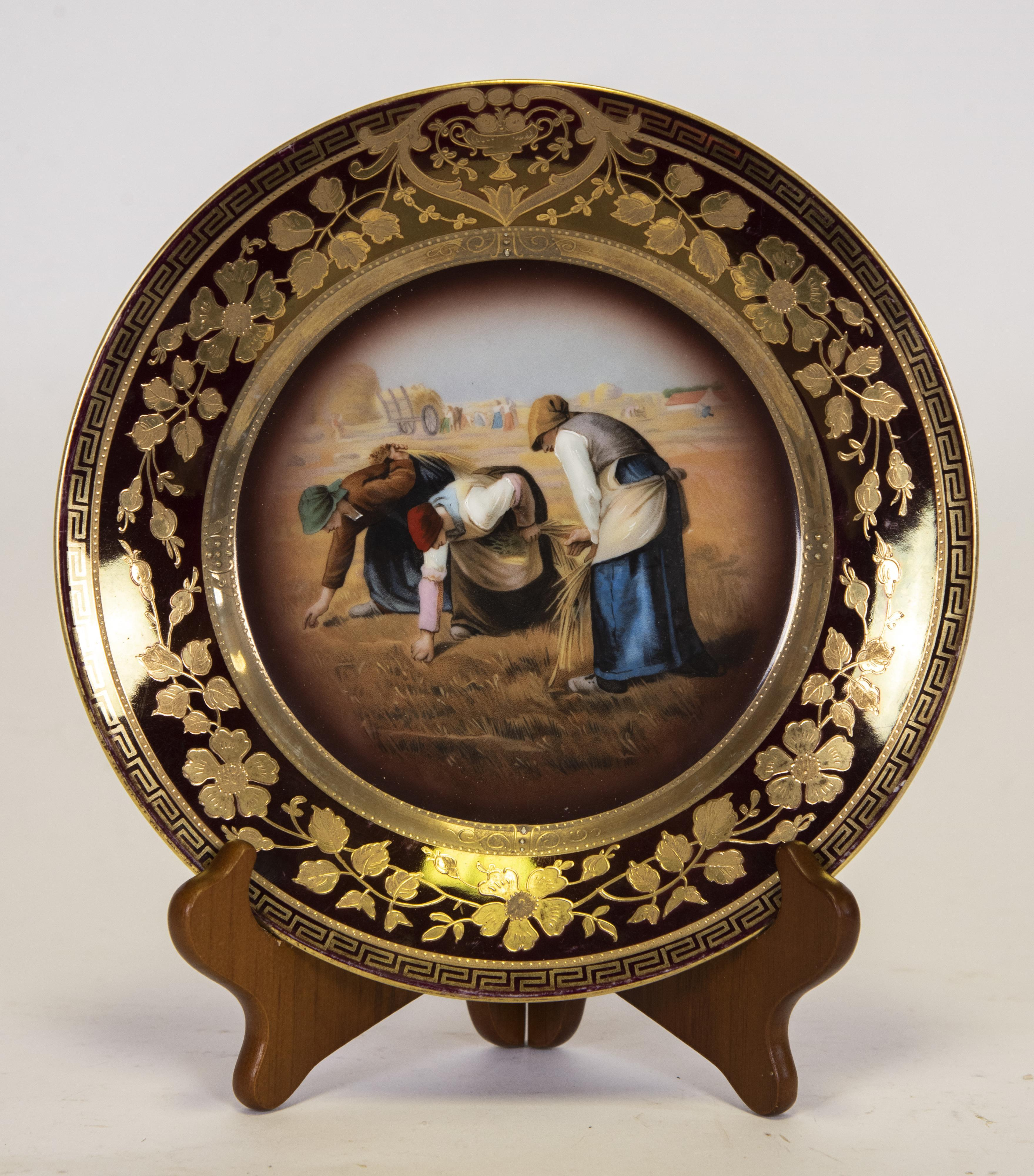 Royal Vienna Signed Cabinet Plate, After Millet