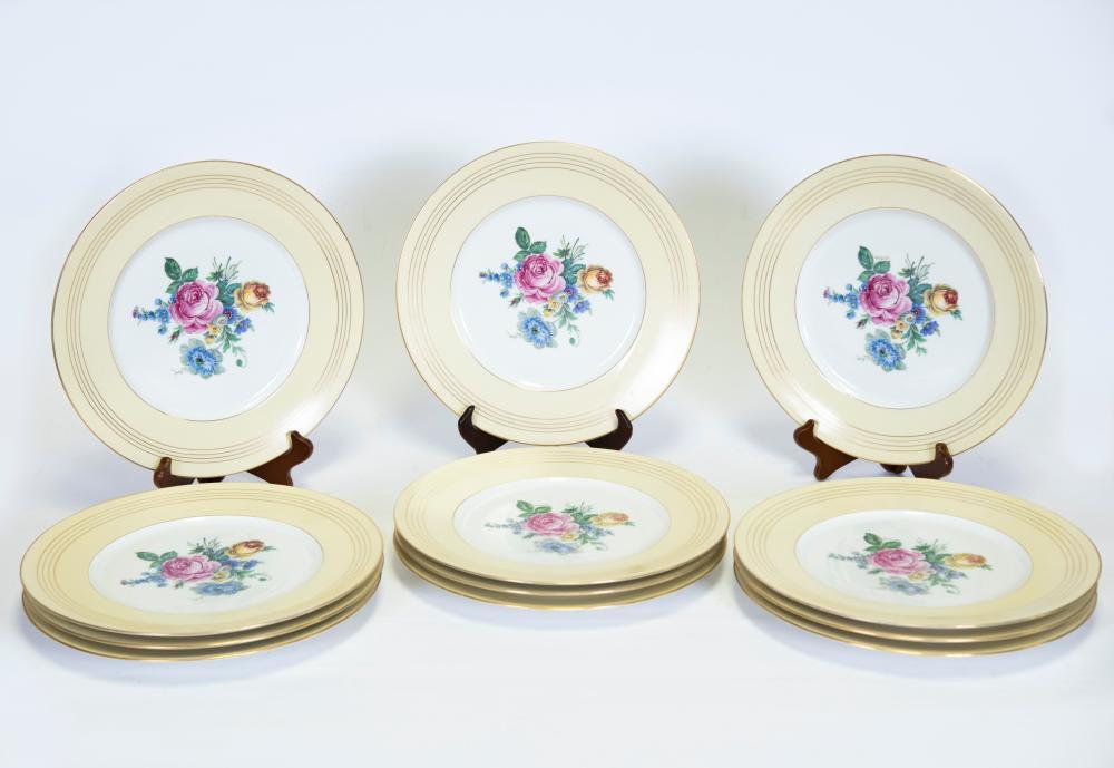 12 Limoges Serving Plates, Royale Pattern