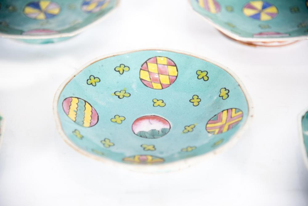 Seven Antique Chinese Porcelain Saucers, 19th Century