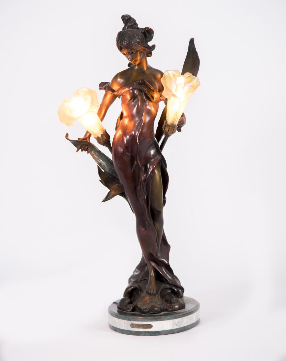 Bronze Lady after Pierre Roche (1855-1922) 28 inches in height