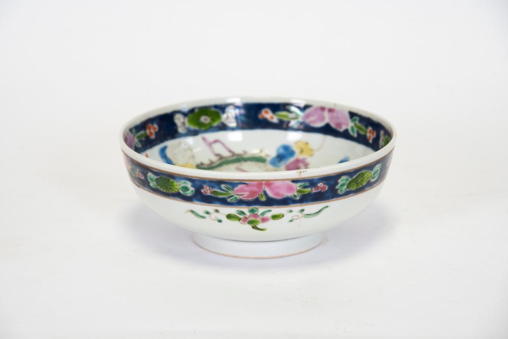 Chinese, circa 1890 hand-painted bowl
