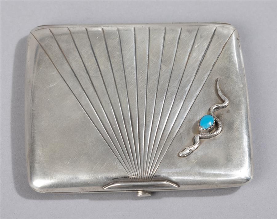 Faberge Silver Cigarette Case