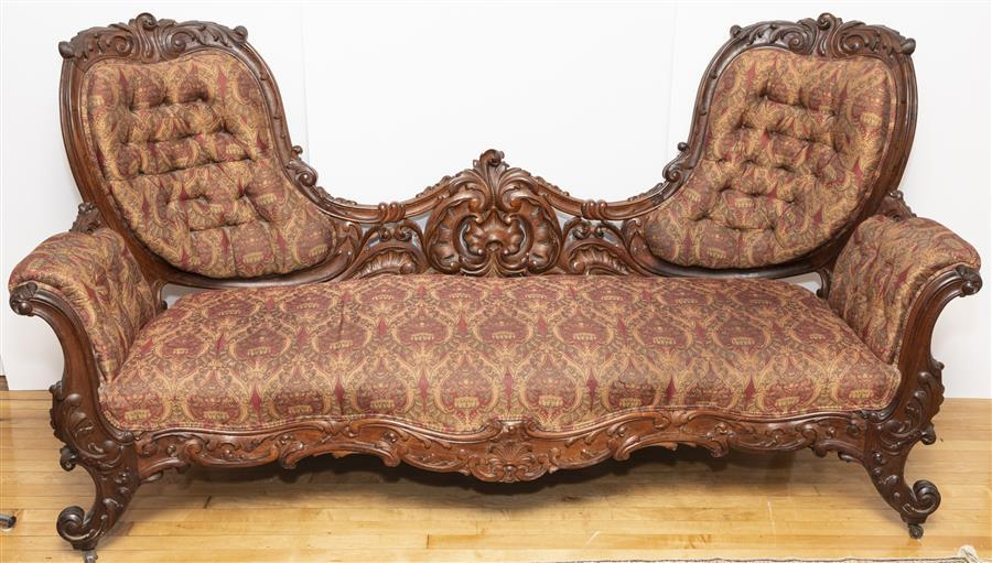 Antique American Victorian Parlour Settee