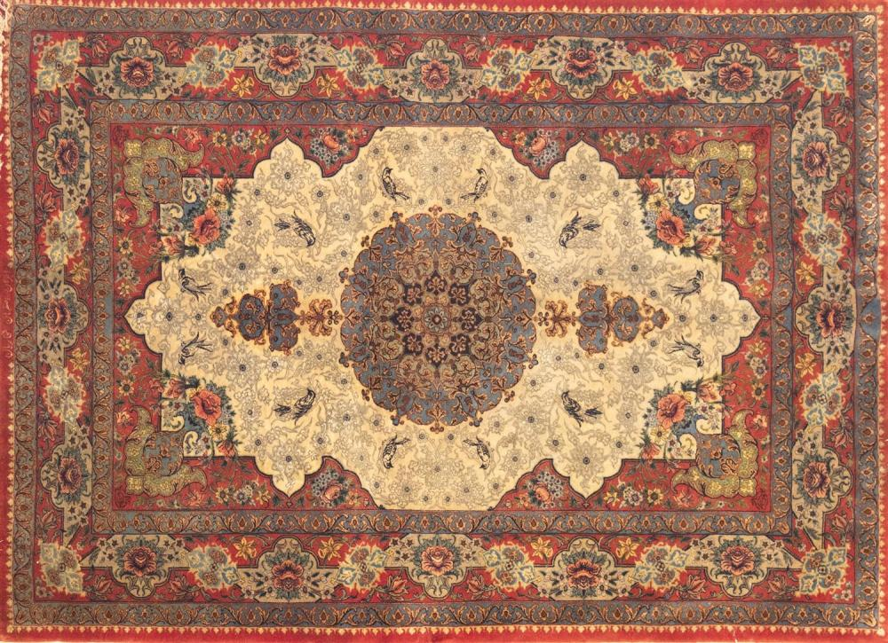 An Isfahan Finely Woven Persian Area Rug
