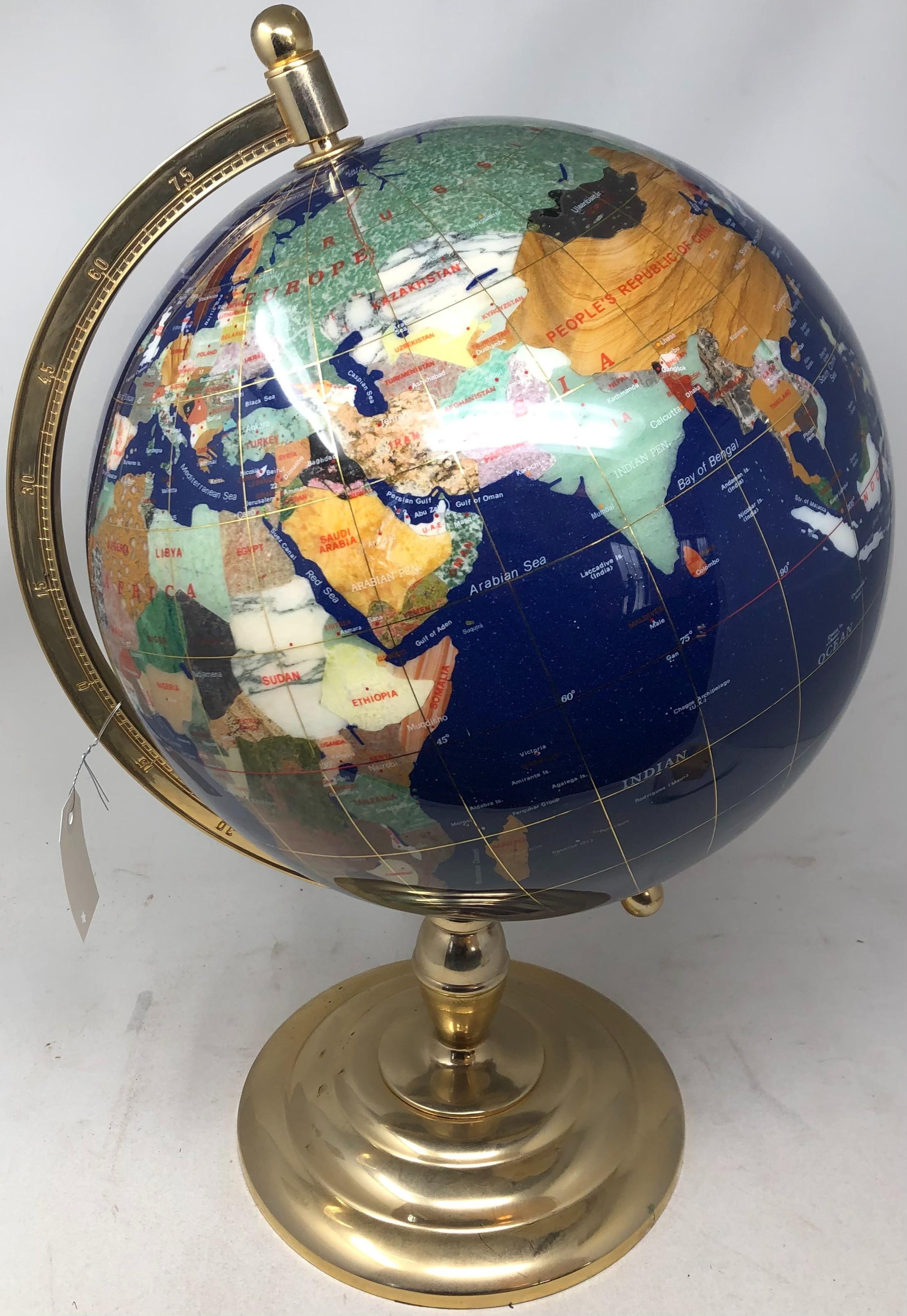 Mineral desk globe. (total height: 21 inches)