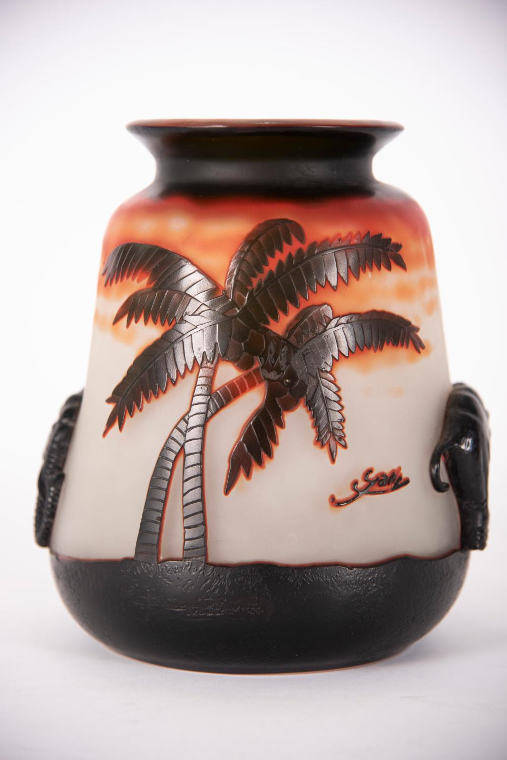 Reproduction Galle Cameo Vase