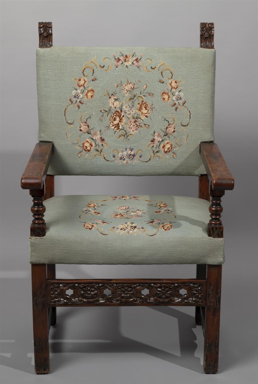 19th Century Continental Open Armchair