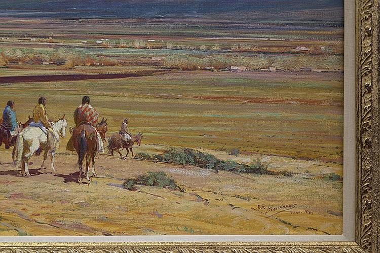 Oscar Edmund Berninghaus, American (1874-1952), First Snow on Taos Mountain, oil on canvas, 20 x 24 inches