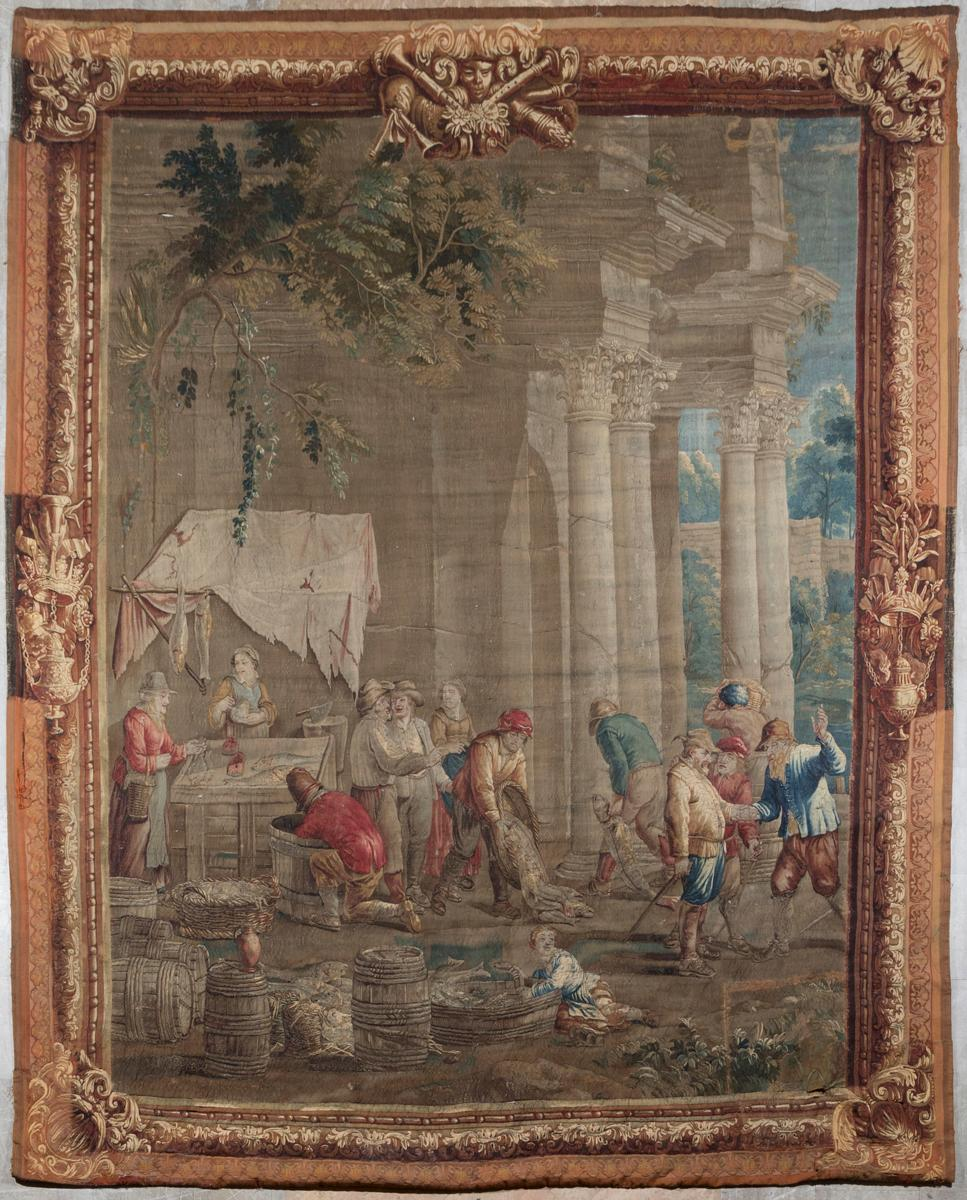 Brussels Tapestry from the Gobelin Twelve Months, Based on a Cartoon By David Teniers (the Younger)