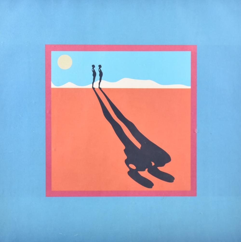 Ernest Tino Trova, Missouri (1927-2009), Falling Man, screenprint, 22 x 22 inches